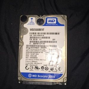 Wd Scorpio Blue 250 GB